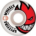 Buy Spitfire Bighead White Red Skateboard Wheels - 52mm 99a (Set of 4) by Spitfire