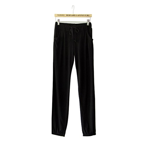 Womens-Solid-Color-Large-Size-Modal-Harem-Pants-Yoga-Pants-One-Size-Loose