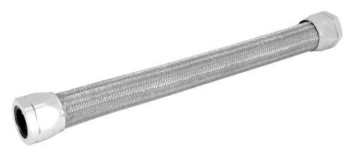 "Spectre Performance (58228) 1.5"" x 22"" Chrome Stainless Steel Flex Radiator Hose"