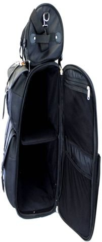 Vance Leather VS348 - Motorcycle Large Sissy Bar Bags Plain Travel Luggage - 30 H x 16 W x 11 D by VANCE