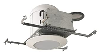 Cooper Lighting P401TSW One-Light 6-Inch Recessed Ceiling Light Fixture Kit with White Trim and Glass