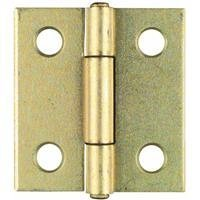 """National Hardware V518 1-1/2"""" Non-Removable Pin Hinge In Brass front-1073211"""
