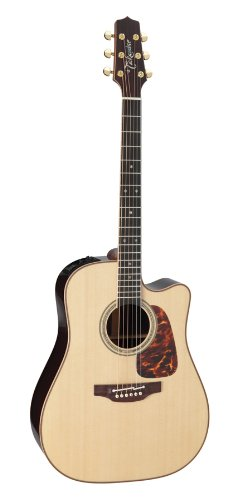 Takamine Pro Series 7 Dreadnought Body Acoustic Electric Guitar Cutaway With Case