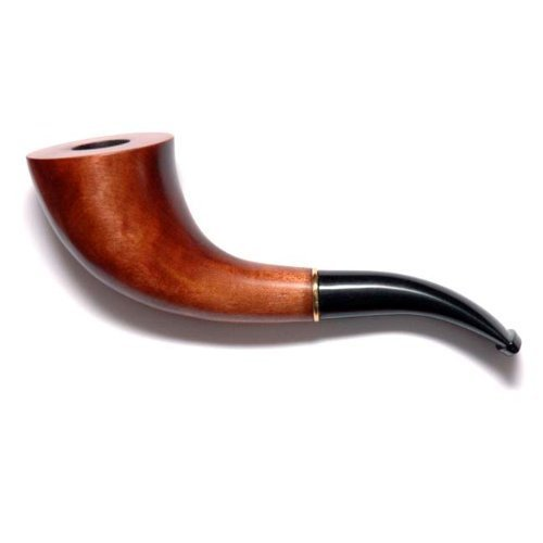 "Tobacco Smoking Pipe ""English Horn"" Hand finished, Pear tree butt, Great Collectible + Gift POUCH"