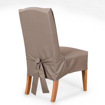dining room chairs surefit cotton duck short dining room chair cover