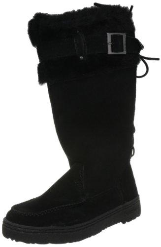 Bearpaw Women's Siren Black Fur Trimmed Boot 1235W 6 UK