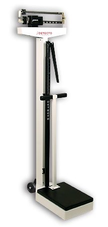Cheap Detecto 448 Balance Beam Doctor/Physician Scale w/ Height Rod, Wheels & Hand Post, 400 lbs, Made in the USA (B000FGDXLM)