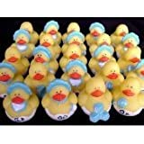 Fun Express Blue Boy Rubber Ducky Birthday Party Set (Six Dozen)
