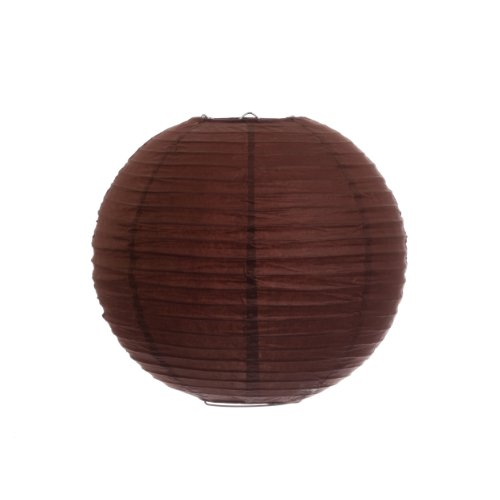 Koyal 10-Inch Paper Lantern, Chocolate Brown, Set of 6