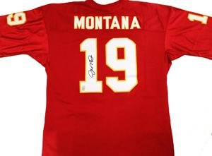 Autographed Joe Montana Jersey - Kansas City Chiefs - Autographed NFL Jerseys by Sports Memorabilia