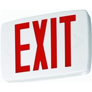 Lithonia Lighting Exit Sign With Led Lamps 0.69 W Led 9-7/8 In. Polycarb Red Ul