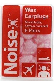 10 X Noise-X Earplugs Wax Cotton 6Pr