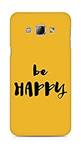 AMEZ be happy Back Cover For Samsung Galaxy A8