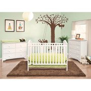 Graco Ashland Fixed-Side Classic Crib, Classic White front-970666