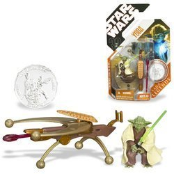 Star Wars YODA w/ Lightsaber Action Figure 30th Legends w/ Coin