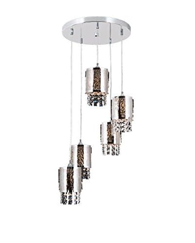 Lights&Deco  Lámpara De Suspensión Apex Plateado Ø 40 cm