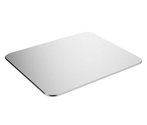 Gaming-Aluminium-Mauspad-CoJoie-Aluminium-Mausunterlage-mit-Anti-Skid-Gummiunterseite-246-x-202-x-02CM-Silber
