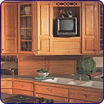 Omega National 24 inch W Straight Appliance Garage with Veneer Door, Hickory