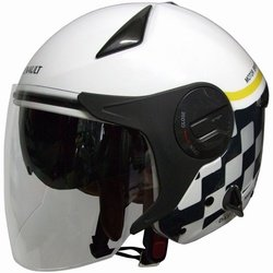 FS RN-999W ルノー Wシールドジェットヘルメット ホワイト 122071228