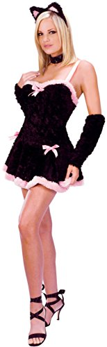 Funworld Womens Sexy Animals Kiss Me Kitty Adults Halloween Themed Fancy Costume