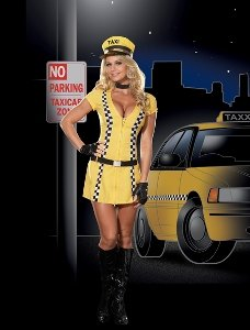 Tina the Taxi Drive Adult Costume Size Large