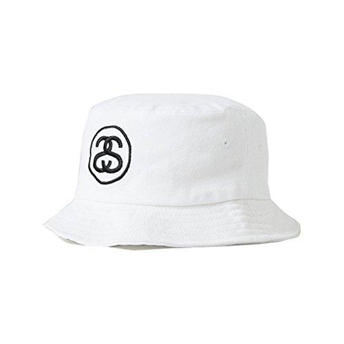 (ステューシー) STUSSY SS-LINK HO15 BUCKET HAT 132726 S/M ステューシー バケットハット ホワイト [並行輸入品]