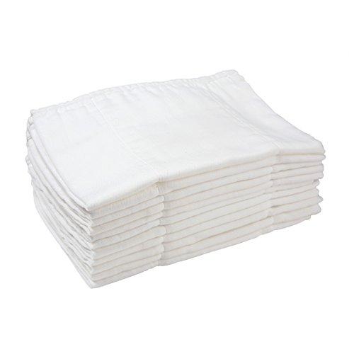 Bambino Mio Miosoft Prefold Diaper, White - 1