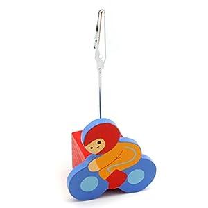 Detalles Infantiles - Pinza para tarjetas moto marca La Lluna - BebeHogar.com
