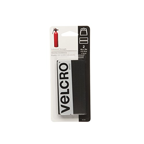 "VELCRO Brand - Industrial Strength Tape 4""X2"" 2/Pkg-Black"