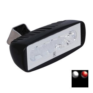 """Brand New Lumitec Caprera 2 Dual Color Led Flood Light White/Red """"Product Category: Electrical/Spot & Flood Lights"""""""