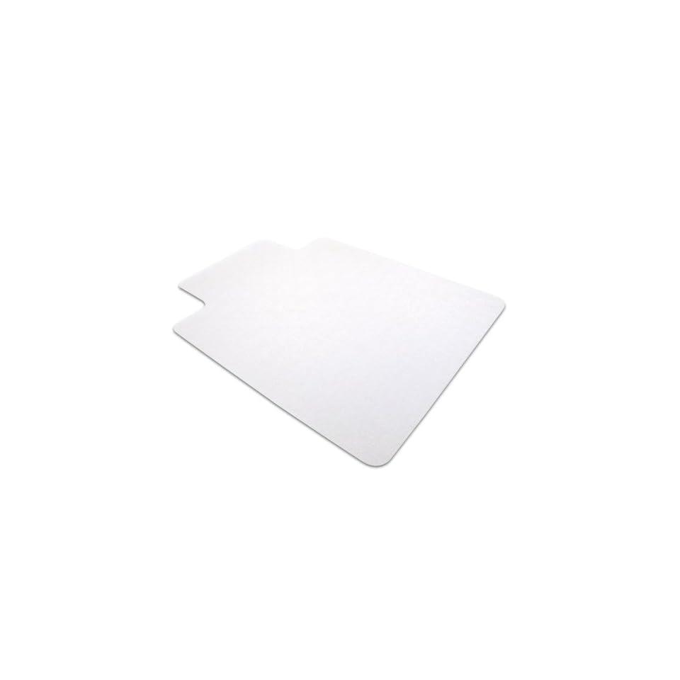 Floortex Phthalate Free PVC Chair Mat for Hard Floors, 36 x 48, Rectangular with Lip, Clear (PF129020LV)