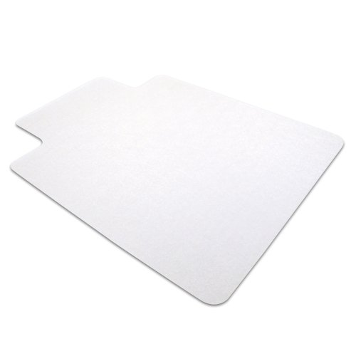 Cleartex AdvantageMat PVC Chair Mat for Hard Floors - Wood, Tile, Linoleum or Vinyl, Clear 48 x 36 Inches, Rectangular with Lip, (129020LV)