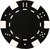 Da Vinci 50 Clay Composite Dice Striped 11.5-Gram Poker Chips (Black)
