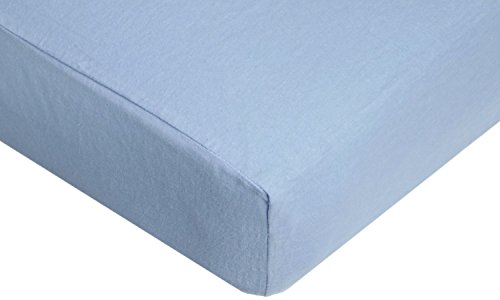 TL Care 100% Cotton Flannel Fitted Crib Sheet, Blue