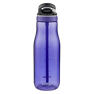 Contigo AUTOSPOUT Straw Ashland Water Bottle, 40 oz., Grapevine (Color: Grapevine, Tamaño: 40 oz.)