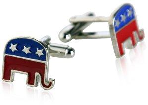 Republican Elephant Cufflinks by Cuff-Daddy