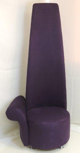 HIGH BACK PURPLE SUEDE POTENZA CHAIR R/H CHROME LEGS