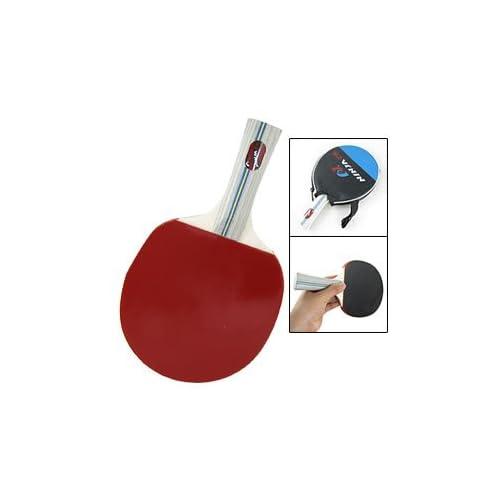 Como Rubber Face Wooden Handle Ping Pong Table Tennis Bat