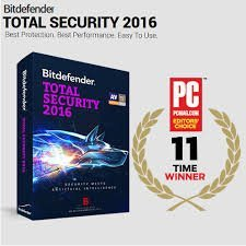 Bitdefender Total Security 2016 - 3 Users, 1 year [Download Licence Key Only] Sent by email