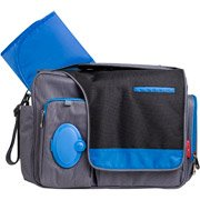 Fisher-Price Messenger Diaper Bag, Black/Blue by Fisher-Price