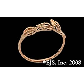14k. Yellow Gold Nenya Tracer Band - Lord of the Rings Jewelry