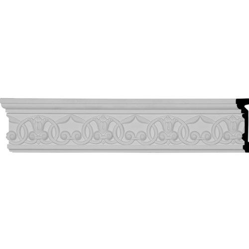 Ekena Millwork CHA04X01VE 4-Inch H x 1-Inch P x 96-Inch L Versailles Flower Blossom Chair Rail