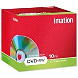 Brand New. Imation DVD-RW Rewritable Disk Cased 4x Speed 120min 4.7Gb Ref 19007 [Pack 10]