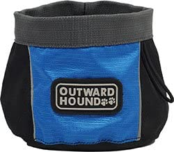 Outward Hound 23001 Port A Bowl Collapsible Travel Dog Food Bowl Water Bowl, Small, Blue