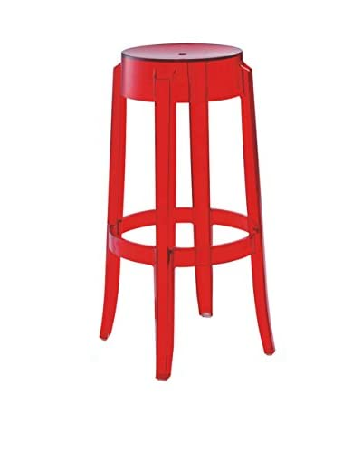 Furniture Contempo Judi Bar Stool, Red