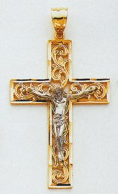 Two-tone Crucifix - C2015