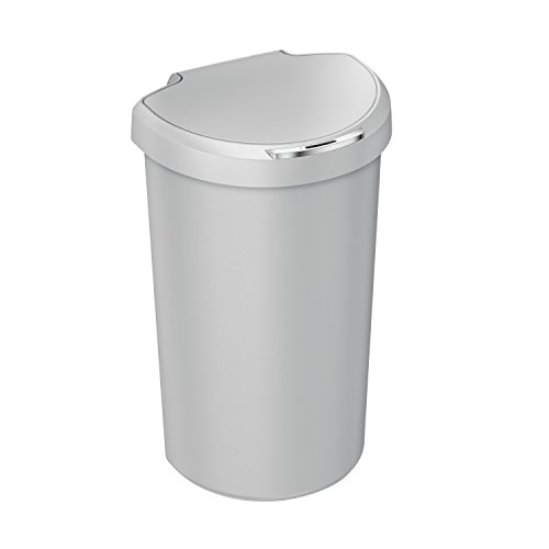 simplehuman 40L Semi-Round Sensor Can, Touchless Trash Can, Stone Plastic, 40 L / 10.5 Gal (Trash Can Compactor compare prices)