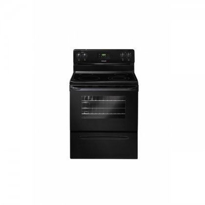 30 In. Smooth Top Freestanding Electric Range - Black