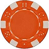 Da Vinci 50 Clay Composite Dice Striped 11.5-Gram Poker Chips (Orange)