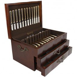 Kingscote Silversmiths - Jamestown 2-Drawer Mahogany-200cap (Silverware Storage Chest compare prices)